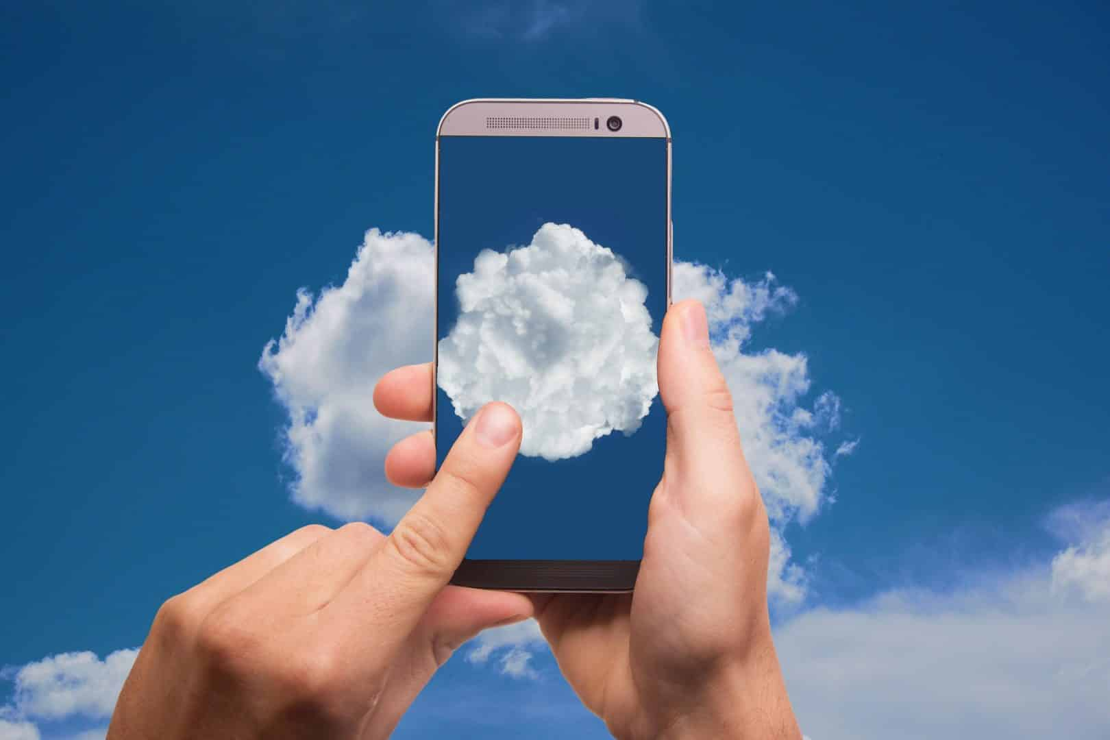 cloud, datos, compartir, almacenamiento